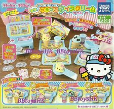 Takara Tomy Capsule Sanrio Hello Kitty Ice cream shop with Cash Drawer Set of 5