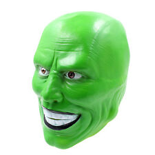 'The Mask' Green Latex Mask Jim Carrey Costume Fancy Dress Halloween Film Loki