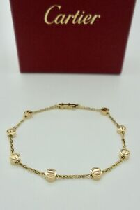 Authentic Cartier Love Station Bracelet in 18k Yellow Gold with Pouch