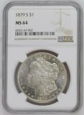 More details for 1879 s morgan dollar ngc ms64 silver coin