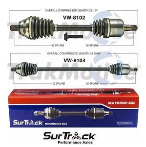 For VW CC Passat Tiguan FWD/AWD 2 Front CV Axle Shafts SurTrack Set