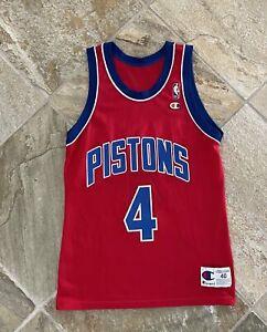 Vintage 90/'s DETROIT PISTONS Allan Houston Men/'s Medium Jersey RARE made by Champion Size 40