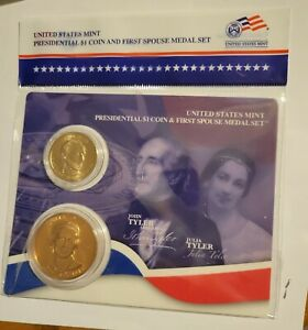 2009 John Tyler $1 Presidential Coin and First Spouse Medal Sealed