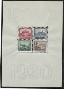 Germany 1930 Iposta miniature sheet, stamps mint never hinged