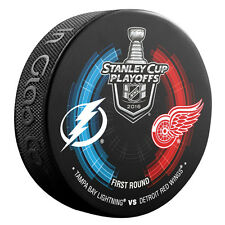 2016 NHL Detroit Red Wings v Tampa Bay Lightning StanleyCup Playoffs Hockey Puck
