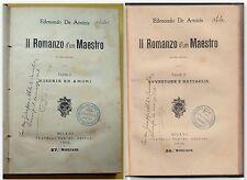 E. DE AMICIS- IL ROMANZO D'UN MAESTRO I E II PARTE-MILANO F.LLI TREVES 1906-N76