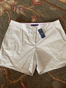 NWT 346 Brooks Brothers Shorts Chino Womens 8 Khaki Shorts MSRP $59.50