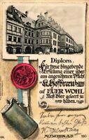 München, Kgl. Hofbräuhaus, Diplom über ein geleertes Maß Bier, 1902
