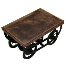 Beautiful Attractive Set of 1 Wooden & Metal Food Serving Cart For Dining Table