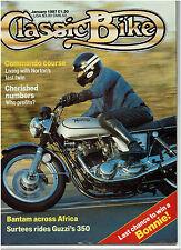 CLASSIC BIKE JANUARY 1987 - TRIUMPH TIGER TEST / MOTO GUZZI 350 SINGLE TEST