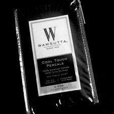 Black KING Pillowcases Wamsutta Cool Touch Percale 350 TC 100% Egyptian Cotton