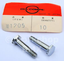 Dia-Compe 1205 bicycle 750 center pull brake arm pivot bolts (PAIR) CHROME - NOS