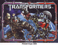 TRANSFORMERS NOS PINBALL GAME PHOTO FROM PINBALL EXPO 2011 STERN RARE VERSION