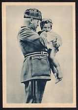STORIA POSTALE Guerra Spagna Cartolina Mussolini con Bimbo NUOVA (CS)