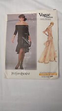 Vogue Paris Original Pattern 1995 Yves Saint Laurent Dress Sz 6-8-10 UNCUT