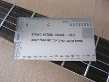 String action gauge in inches, guitar measuring tool, luthier tool