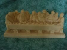 VINTAGE LAST SUPPER  ~SIGNED A. GIANNETTI ~ IVORY COLOR~ ITALY