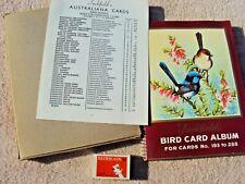 "TUCKFIELDS TEA ""BIRD CARD ALBUM"" 96 CARD #193-288, CARD INDEX + ORIGINAL PACKAGE"