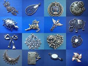 Large Tibetan silver pendant for jewellery making UK SELLER