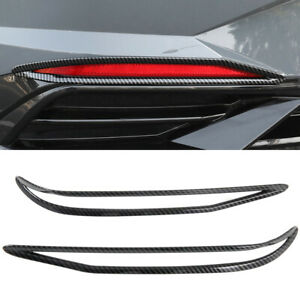 For Hyundai Elantra i30 Sedan 2021 Carbon Black Rear Fog Light Cover Trim 2pcs
