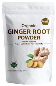 Organic Ginger Root Powder (Zingiber officinale), Spice, 8,16 oz Free Shipping