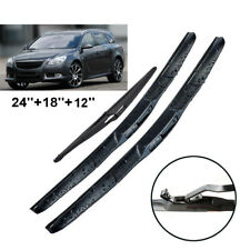 "24""18""12"" Front Rear Wiper Blades Fit For Opel Insignia A Wagon 2015 2016 2017"