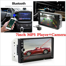 """2din Car Radio Audio Stereo Player 7"""" Bluetooth Touch Screen Camera Mirror Link"""