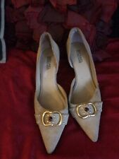 Michael Kors size 8.5 Light beige Heels w/crystal embellishments. Good cond.