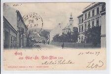 AK Wien XIII, Ober-St. Veit, Volksschule, 1899