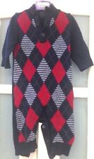 VGC BABY GAP FAIR ISLE/ ARGYLE  ALL IN ONE PLAYSUIT JUMPSUIT 3-6 Months