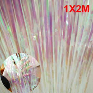 1M*2M Foil Fringe Tinsel Shimmer Curtain Door Wedding Birthday Party Decorations