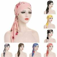 Womens Muslim Hijab Cancer Chemo Hat Turban Cap Cover Hair Loss Head Scarf Wrap/