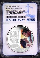 2019 Gone With The Wind 80th Anniversary Proof $1 1oz Silver COIN NGC PF 70 FR