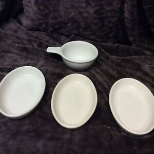 Restaurant Dinner Ware, Rego & Buffalo, China , Bowl w/ handle, 3 oval bakers di