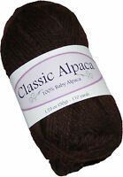 Classic Alpaca 100% Baby Alpaca Yarn #410 Oregon Timber 50g/110 yds DK Peruvian