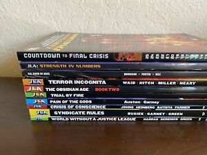 10 DC Comics TPB LOT JLA Set - VF/NM - JUSTICE LEAGUE JLA PAPERBACK