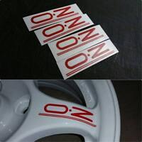 4 PCS OZ Rally Wheel Decals Red EVO 1 2 3 CE9A Lancer Mitsubishi Colt JDM 4G63