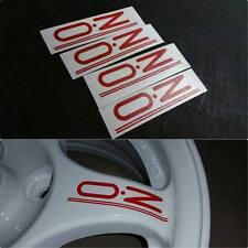 4 PCS OZ Rally Wheel Decals Red EVO 1 2 3 CE9A Lancer Mitsubishi Colt JDM