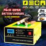 12V 200Ah 15A Car Motorcycle Pulse Repair Charging LCD Lead Acid Battery Charger