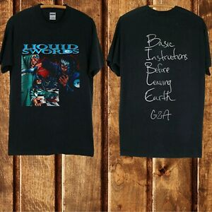 gza liquid swords heavy cotton new black t-shirt