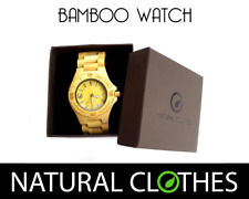 Bamboo Wooden Wrist Watch CITIZEN MIYOTA Retro Handmade Natural Clothes