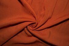 Burnt Orange 100% Rayon Challis Sewing Shirt Apparel Fabric BTY