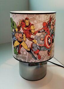 Marvel Avengers Superhero white Touch lamp -3 settings boys bedroom night light