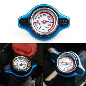 For Racing Thermostatic Gauge Radiator Cap 1.1 Bar Small Head Water Temp Meter