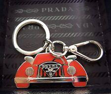 Prada Red and Silver Car keyring/bag Charm