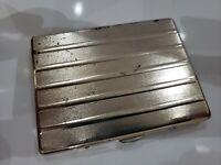 "VINTAGE Silver Tone  Cigarette Case / 3  x 4""                  416/19"