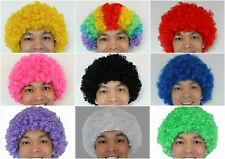 Clown AFRO Wigs  Fancy Dress Party Costume Many Colours