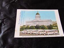 Gray Line Coaches Pierce Arrow Salt Lake City Utah Postcard-Newhouse Hotel