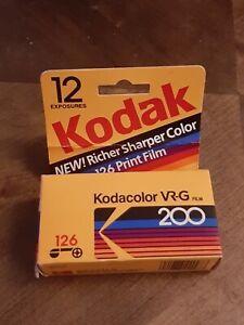 Vintage Koda Color 126 Camara Film 200 Color 12 Exp Original Box unused film