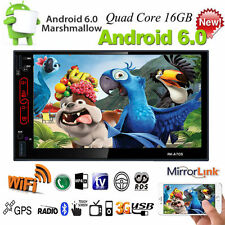 """Android 6.0 3G WIFI 7""""Doppelte 2DIN Auto Radio Stereo MP3 Player GPS NAV USB+CAM"""